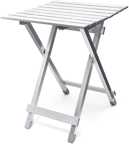 Klein Opvouwbaar Tafeltje.Relaxdays Inklaptafel Aluminium 49 5 Cm Klein Kleine Campingtafel Opklapbaar Tafeltje
