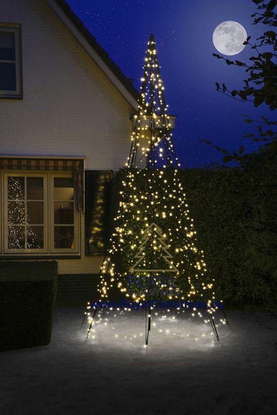 fairybell vlaggenmast kerstboomverlichting lengte 400 cm 640 warm led lampjes