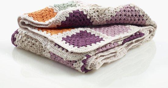 Pebble deken - Granny Square paars