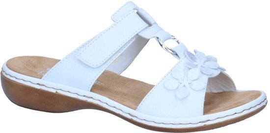 627ba2343c886 bol.com | Rieker - 65998 - Elegante slipper - Dames - Maat 37 - Wit ...
