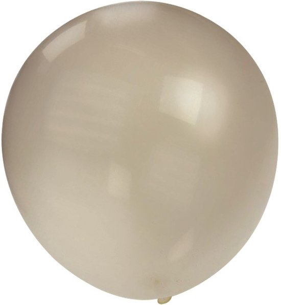 Topballon metallic zilver  90 cm