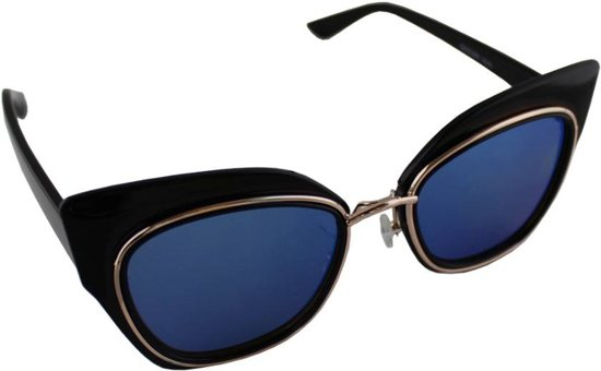 293d223430bebe Zonnebril UV 400 Cat Eye Zwart Blauw