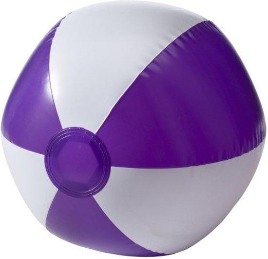 2x Opblaasbare speelgoed strandbal paars 26 cm - Strandballen - Buiten speelgoed - Strand speelgoed