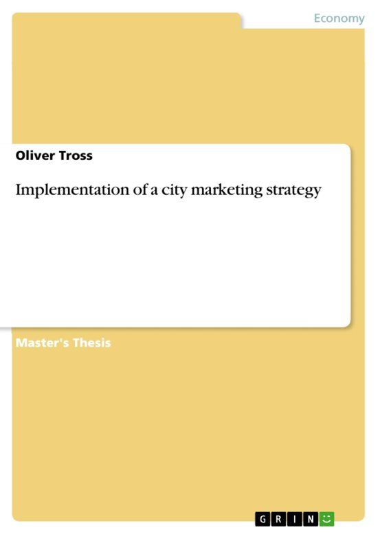 Implementation of a city marketing strategy