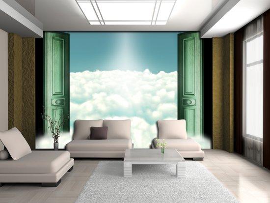 Fotobehang Wolken | Groen | 104x70,5cm