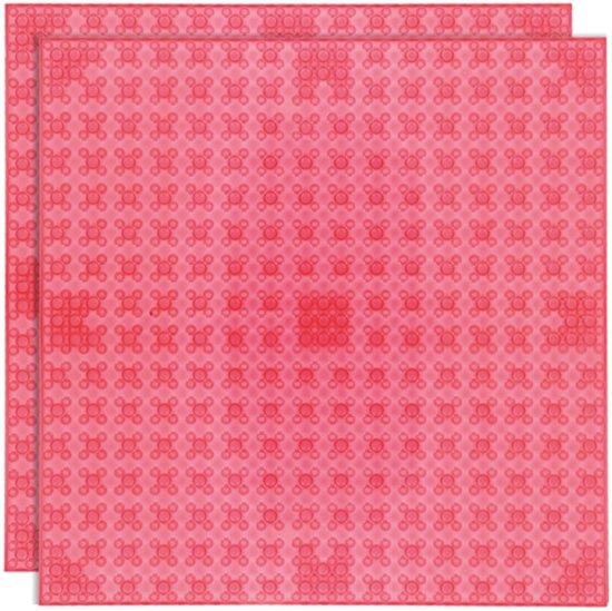 Strictly BRIKS LBP322TTR Bouwplaat 32x32 Transparant Rood Duopak