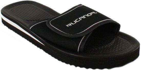 Rucanor Bad - Slippers - Unisex - Maat 43 - Zwart/Wit