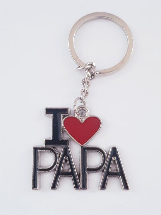 I love Papa keychain - Vaderdag - Ik hou van mijn vader - Sleutelhanger - Papa - Accessoires