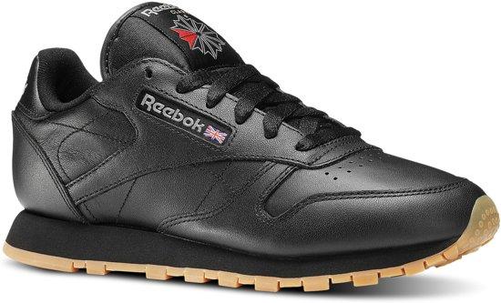 Reebok Classics Leather Sneakers Dames - Int-Black/Gum - Maat 35