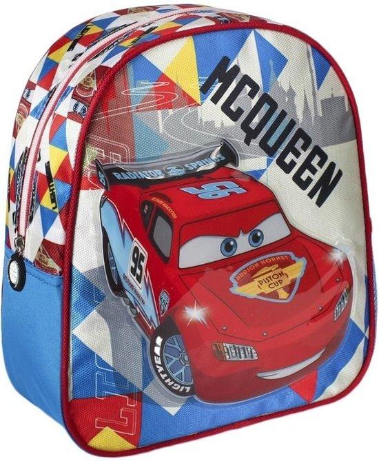 d8db8db076b bol.com | Blauwe Disney Cars Lightning McQueen rugtas voor kinderen