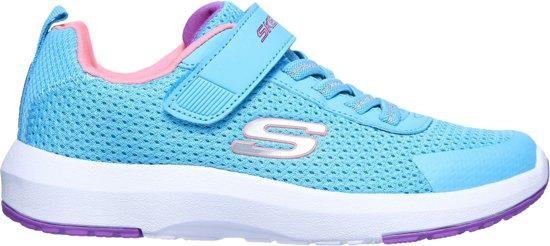Skechers Dynamic Tread Hop N' Hike  Sneakers - Maat 29 - Meisjes - licht blauw/zilver/roze