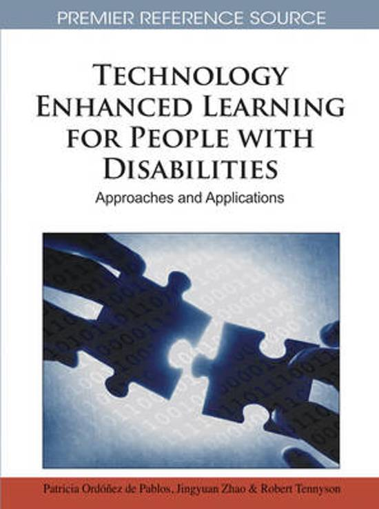 Technology Enhanced Learning for People with Disabilities