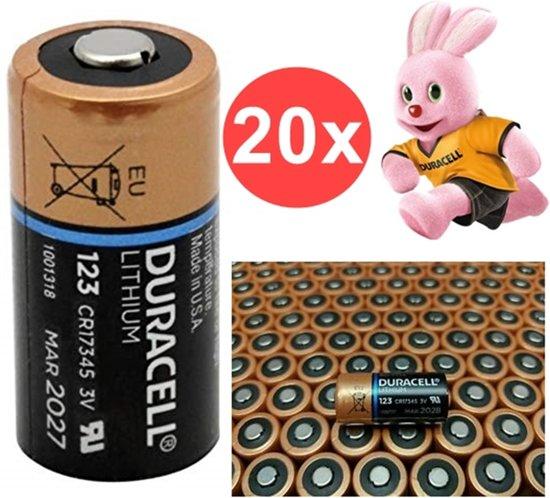 Bolcom 20 Stuks Duracell Cr123a Ultra Lithium Batterij