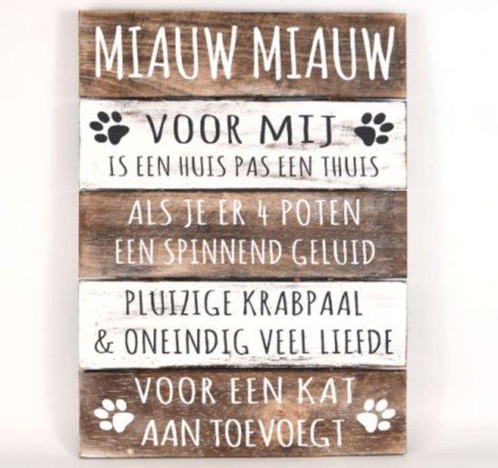 spreuken met foto bol.| Wandborden Hout Spreukbord Katten Spreuken Woondecoratie  spreuken met foto