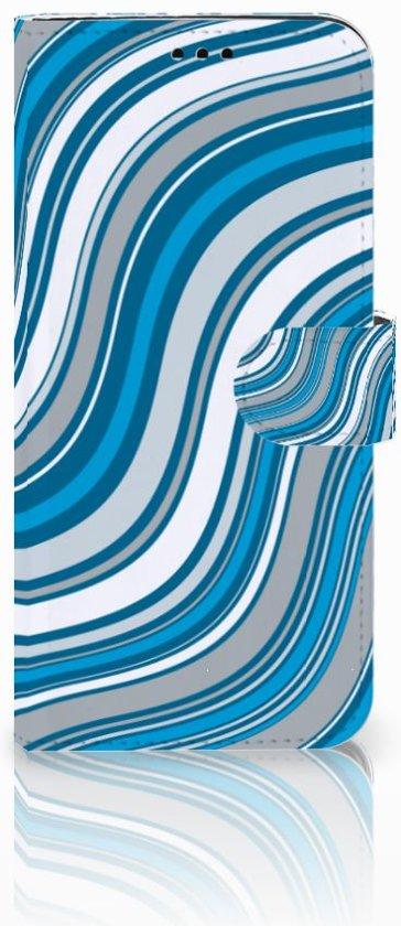 Samsung Galaxy S9 Plus Boekhoesje Design Waves Blue