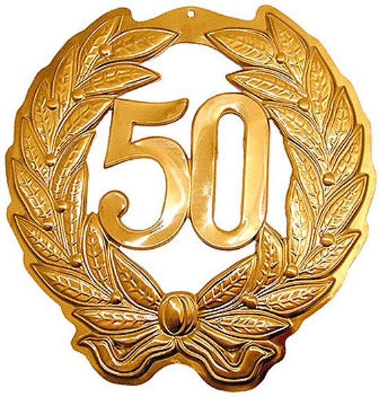 50 jaar jubileum goud bol.| Jubileum krans 50 jaar, Merkloos | Speelgoed 50 jaar jubileum goud