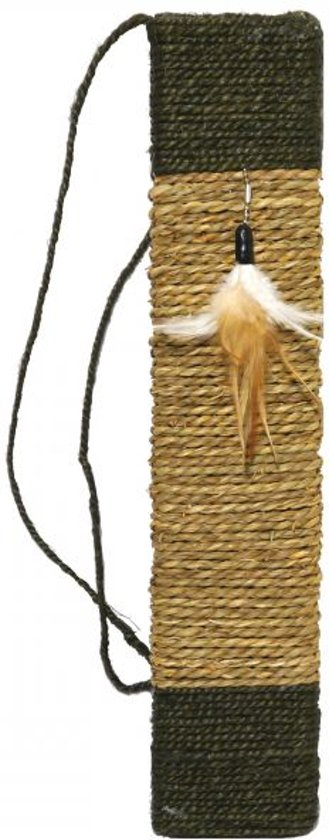 Rosewood Jolly Moggy Natural Wild scratch & play krabmat met catnip - 49x10x2 cm
