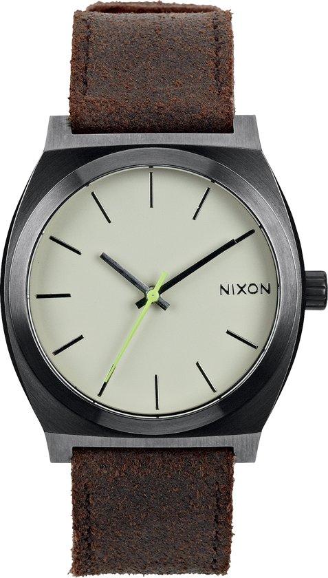 Nixon A0451388 Time Teller gunmetal brown - Horloge - 37mm - Donkergrijs