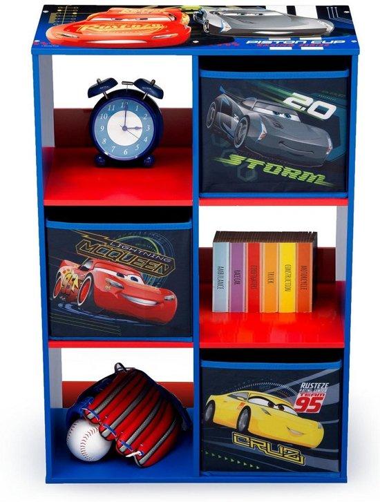 Multi Opbergkast Cars.Houten Kubuskast Disney Cars