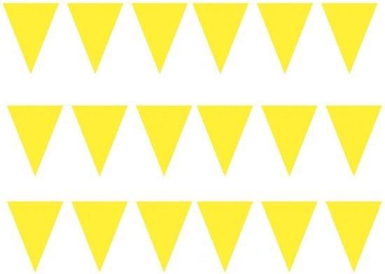 3 stuks Vlaggenlijnen/slingers XXL geel 10 meter