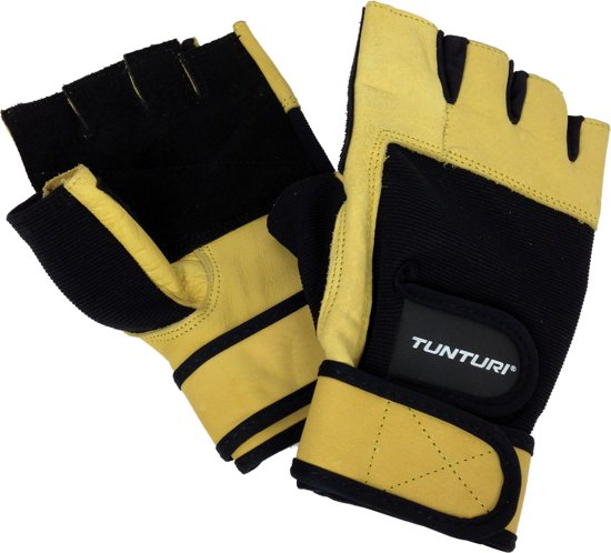 Tunturi High Impact - Fitness Gloves - Fitness handschoenen - Sporthandschoenen - Leder - Maat S