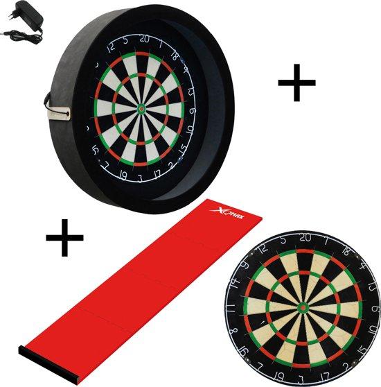 Dragon darts - Sorpresa PRO set - Rood - dartbord - dartmat - dartbord verlichting