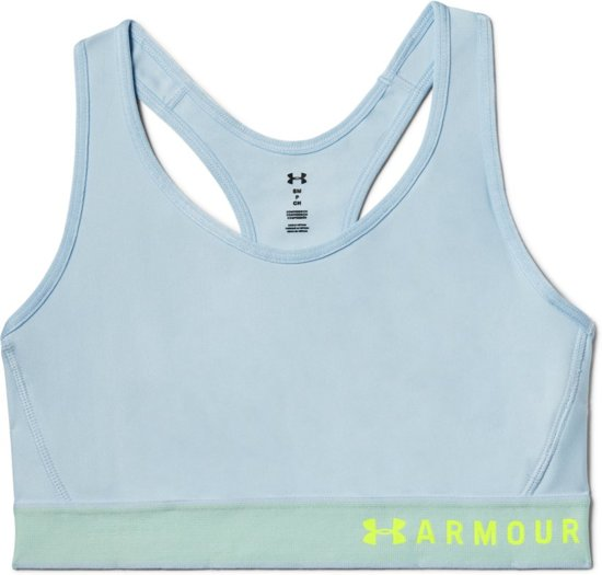 0f6ed4e3f2f6 Under Armour Armour Mid Keyhole Sport BH - Coded Blue - Maat M