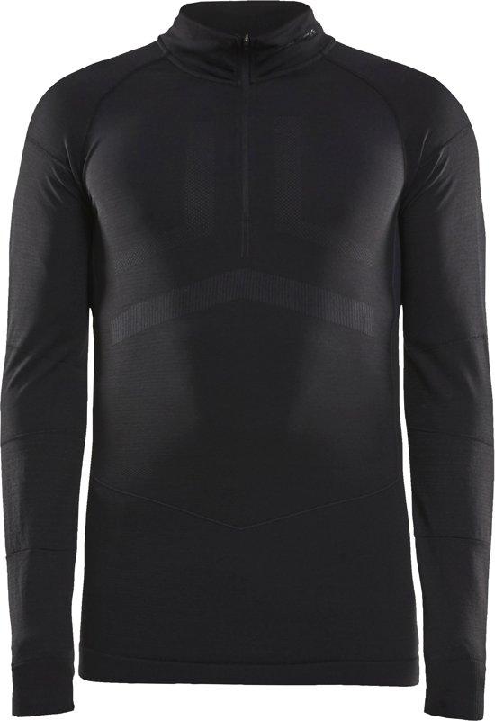 Craft Active Intensity Zip Heren Sportshirt - Black/Asphalt - L