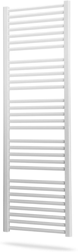Aloni Handdoekradiator Zijaansluiting 600x1200mm 750 Watt Wit