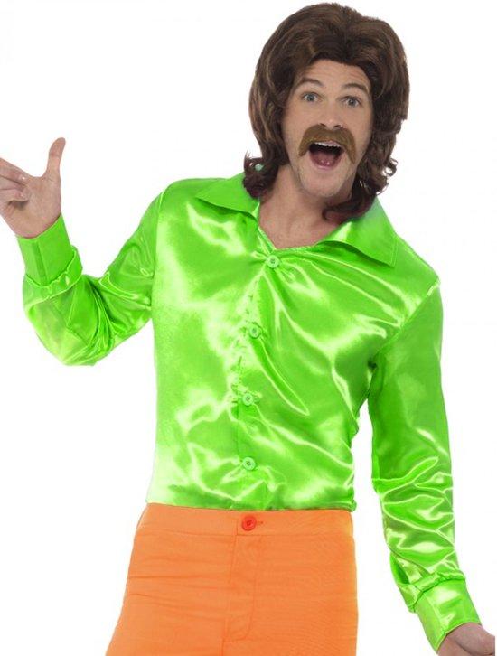 Overhemd Mannen.Bol Com Groen Seventies 70s Overhemd Voor Mannen Verkleedkleding