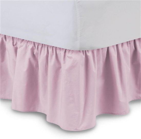 Bedrok Geplooid 60x120cm Poederroze Dolly-Flap 4 zijden