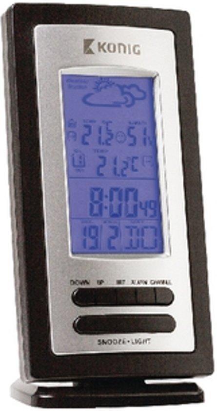 König KN-WS205 Zwart, Zilver digitale weerstation
