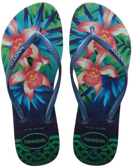 Havaianas Pantoufle Femmes Tropicales À Puce - Vert 39rOEBsM