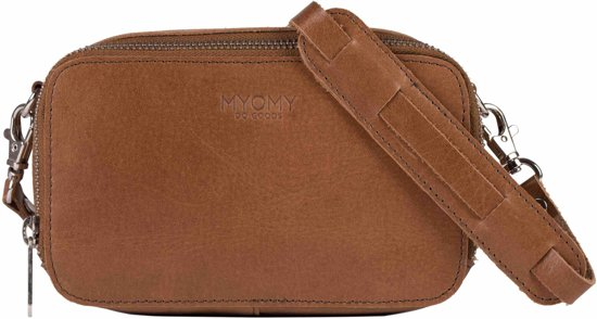 3df119db4e bol.com | MYOMY My Black Bag Boxy Hunter Waxy Cognac Crossbody Tas