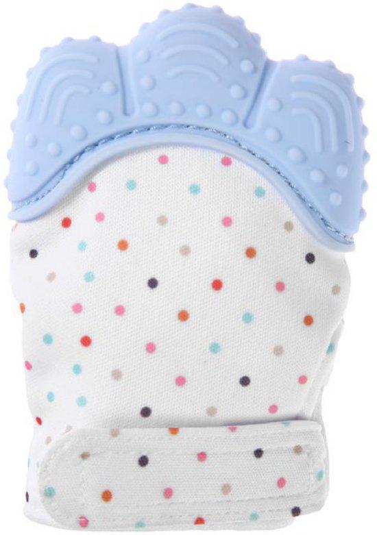 Chewiez® - Bijthandschoen - Pastel Blauw - Bijt - speelgoed - handschoen - bijtring - speelgoed - kraamcadeau