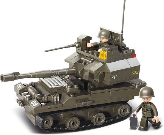 Sluban Tank met 2 soldaatjes 28,5 cm