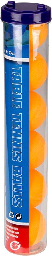Get & Go Tafeltennisballen in Koker - 6 Stuks - Oranje
