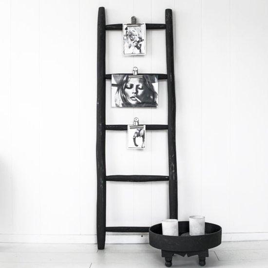 bol.com | Ladder Luxe Zwart Hout