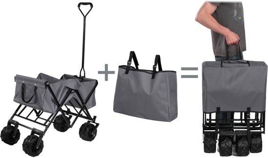 TecTake - opvouwbare handkar Heidrun grijs
