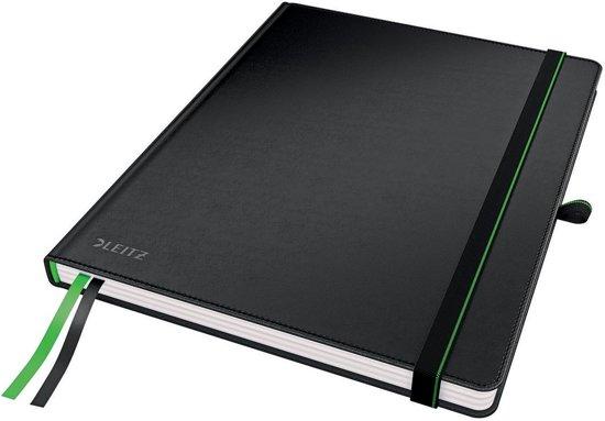Leitz Notitieboek - A4 - Gelijnd - Harde Kaft - Zwart
