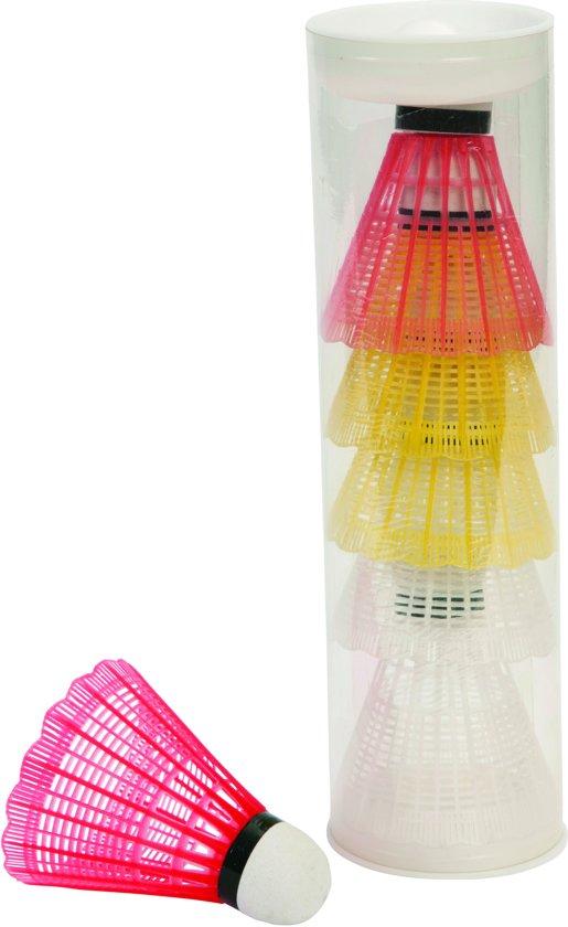 Badminton shuttles - 6 Stuks - Koker - Plastic