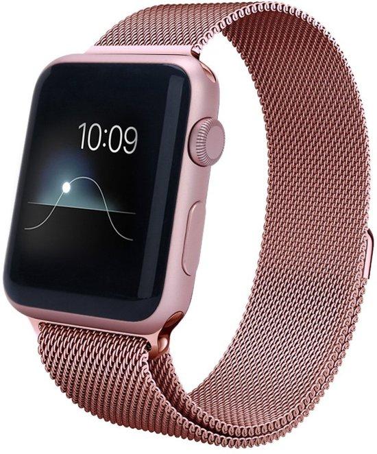 Milanese Horloge Band 42 MM Voor de Apple Watch Series 2 - Watchband Voor de iWatch - Armband Roestvrij Staal - Rose Goud kleurig