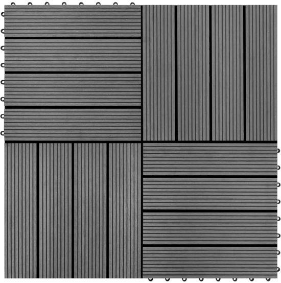 Kunststof Terrastegels 50x50.Bol Com Vidaxl Hkc Tegels Grijs 30x30 Cm 1m 11 St