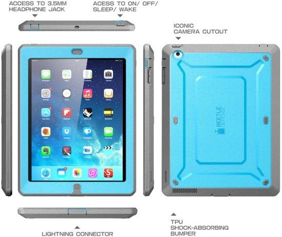 Supcase iPad 2 Unicorn Beetle Pro Case met ingebouwde Screen Protector blauw in Leiden