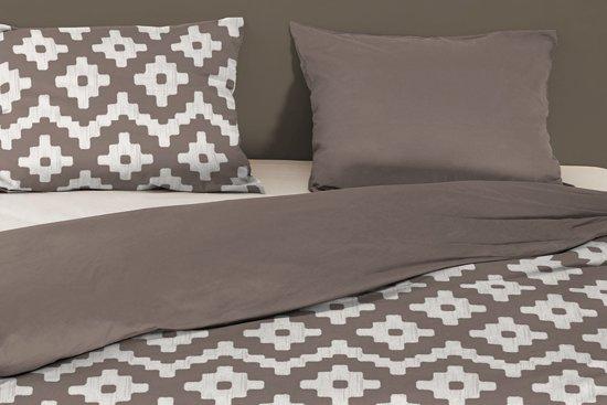Good Morning Textile   dekbedovertrek   eenpersoons   140×200  220   Taupe (Dekbedovertrekken