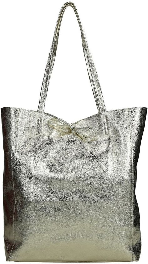 25fded24fb2 bol.com | Duifhuizen Leather Collection shopper M brons metallic