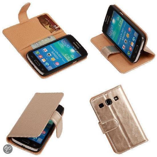 PU Leder Goud Samsung Galaxy Core Plus Book/Wallet Case/Cover Hoesje