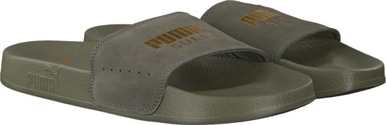 Men Heren Leadcat Suede Slippers Groen Puma 43 Maat PI7gn