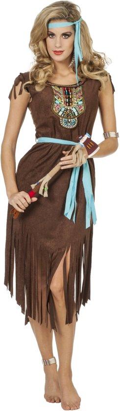 Indiaanse bruin luxe jurk voor dame maat 44