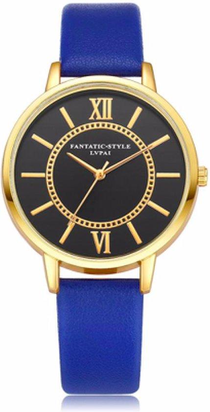 Hidzo Horloge LVPAI ø 37 mm - Donker Blauw - In horlogedoosje